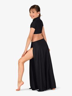 Girls Performance Mock Neck Short Sleeve Dress