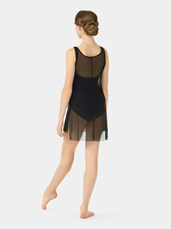 Adult Boatneck Mesh Tank Dress