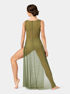 Adult Floor-Length Mesh Tank Dress