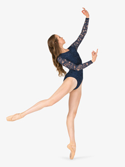 Adult Lace Long Sleeve Ballet Leotard