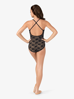 Adult Sweetheart Neck Lace Camisole Ballet Leotard