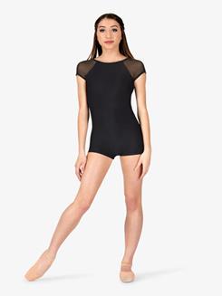 Womens Performance Mesh Short Sleeve Shorty Unitard