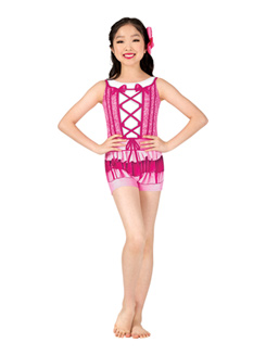 Girls Performance Princess Tank Printed Shorty Unitard