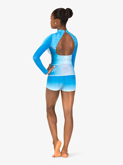 Womens Performance Snow Princess Long Sleeve Printed Shorty Unitard