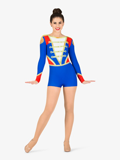 Womens Performance Toy Soldier Long Sleeve Printed Shorty Unitard