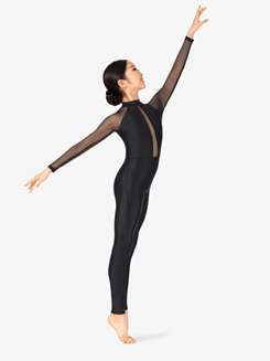Girls Performance Mesh Long Sleeve Unitard