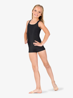 Girls Crisscross Tank Shorty Unitard