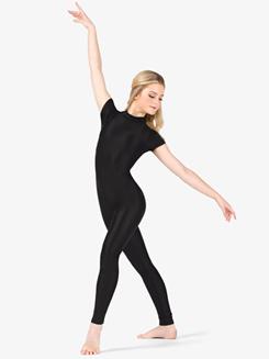 Womens Performance Crisscross Short Sleeve Unitard