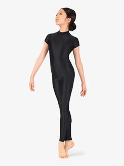 Girls Performance Crisscross Short Sleeve Unitard