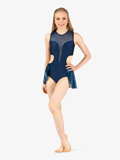 0d0e3ebe6a8d Double Platinum Womens Plus Size Performance Swirl Sequin Cutout Tank  Leotard Item: N7799P