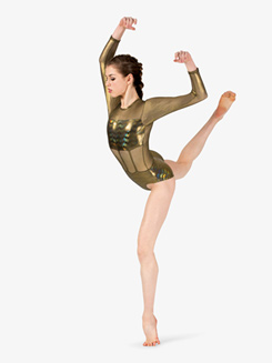 Girls Performance Iridescent Metallic Leotard