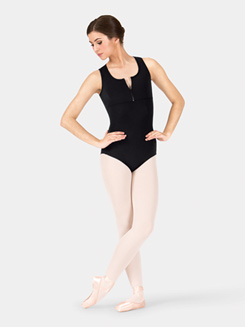 Adult Racer Back Zip Tank Leotard