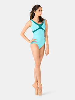 Adult Sleeveless 2-Tone Leotard