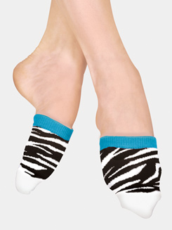 Adult Funky Zebra Spinner Socks
