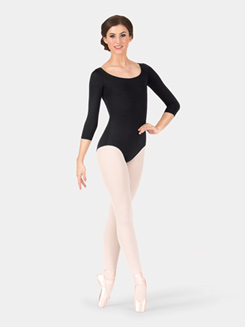 Adult Cut Out Back 3/4 Sleeve Leotard