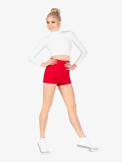 Womens Matte Nylon Dance Shorts