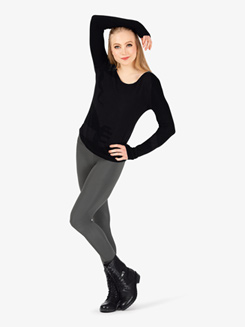 Womens Matte Nylon Dance Leggings