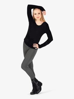 Womens Matte Nylon Dance Leggings
