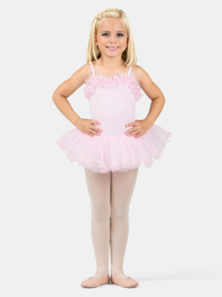 Girls Ruffle Neckline Tutu Dress