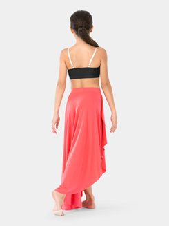 Girls Long Hi-Lo Dance Skirt