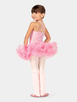 Girls Sequin Tutu Camisole Dress