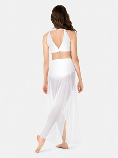 Adult Ruched Contemporary Mesh Skirt