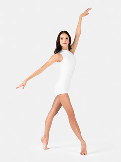 Adult Sleeveless Plunging Back Shorty Unitard