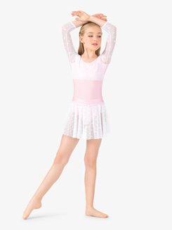 Girls Lace Pull-On Ballet Skirt