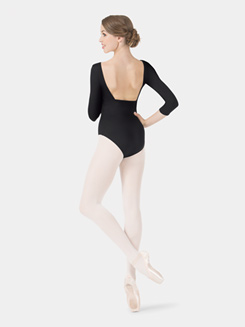 Adult V-Neck Pinch 3/4 Leotard