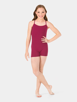 Child Camisole Strappy Back Shorty Unitard