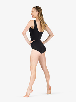 Adult Wrap Front Retro Tank Dance Leotard