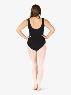 Adult Plus Wrap Front Retro Tank Dance Leotard
