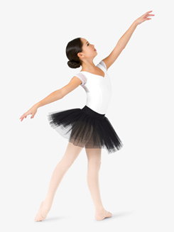 Girls Short 4-Layer Ballet Tutu Skirt