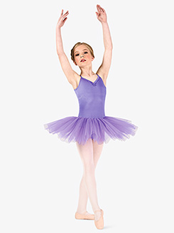 Girls Camisole 4-Layer Ballet Tutu Dress