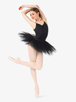 Womens Camisole 6-Layer Ballet Tutu Dress