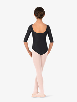 Girls Nylon 3/4 Sleeve Leotard