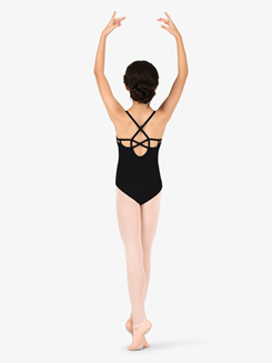 Studio Collection Girls Back Cutout Cotton Camisole Leotard