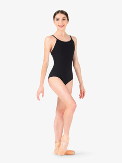 Studio Collection Womens Crisscross Back Cotton Leotard