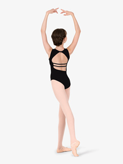 Studio Collection Girls Back Detail Cotton Tank Leotard