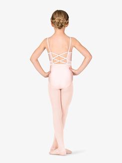 Child Crisscross Back Lace Camisole Dance Leotard