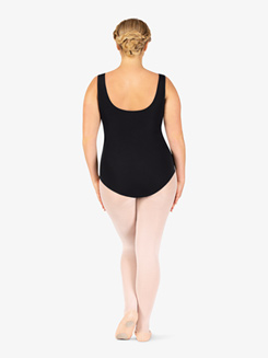 Adult Plus Faux Wrap Tank Curvy Fit Leotard