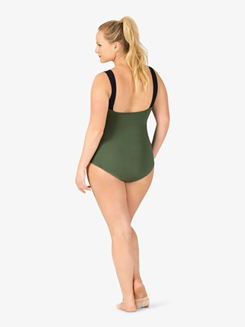 Adult Curvy Fit Plus V-Back Camisole Leotard