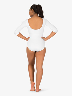 Adult 3/4 Sleeve Color Block Curvy Fit Leotard