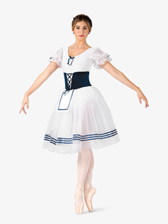 Womens Giselle Faux Corset Short Sleeve Costume Dress