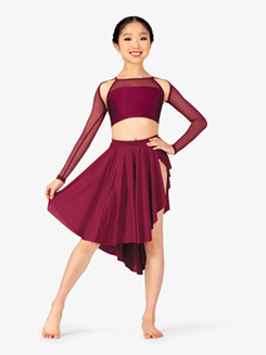 Womens Lyrical Flow Asymmetrical Skirt