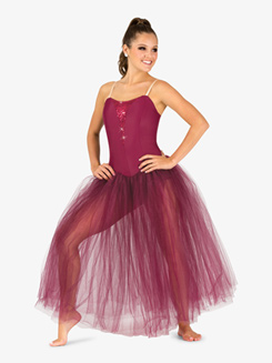 Womens Sequin Insert Juliet Camisole Performance Tutu Dress
