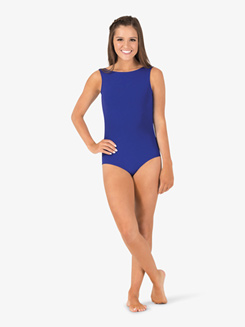 Studio Collection Womens Cotton Pinch Back Tank Leotard