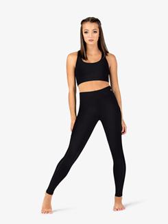 Womens Mesh Side Insert Fitness Leggings