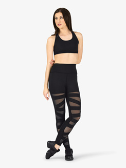 Womens Compression Crisscross Fitness Leggings