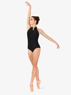 Womens Macrame Mock Neck Leotard